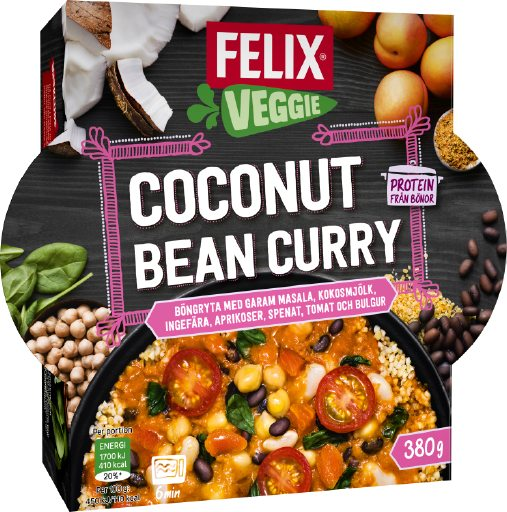 Bilden illustrerar Coconut bean curry