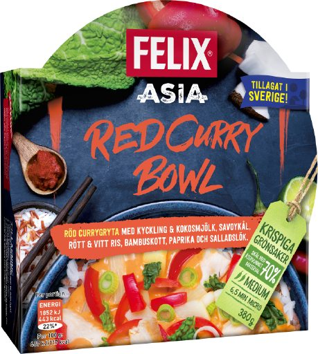 Bilden illustrerar Red curry bowl