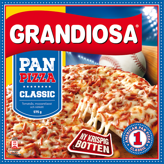 Bilden illustrerar Pan pizza classic
